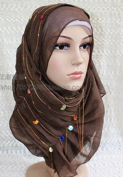 Fashion bandanas hijab scarf blue
