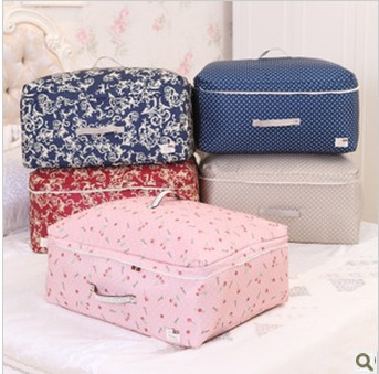 Freeshipping Newest Large Quilt Storage Bag Fabric Anti-Dust Clothes Underwear Bags Socks Scarf  Container Storer Hot Sale Gift