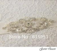 JY357 vintage pearl beaded flower shape crystal beaded wedding dress belt wedding dress waistband