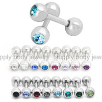 16g~6mm mini micro straight barbell cartilage piercing 100pcs/lot