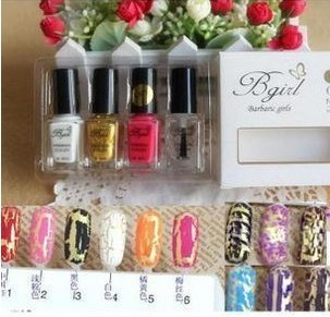 New 20 Colors Crack nail polish Crackle/fissure/flaw/Shatter Free Shipping Dropshipping(China (Mainland))