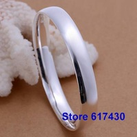 B169 925 sterling silver Bracelet Bangle Cuff fashion Jewelry bracelet for women Smooth oval /anda jeka