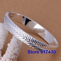 B173 925 sterling silver Bracelet Bangle Cuff fashion Jewelry bracelet for women Setaria closed /anga jena