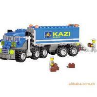 Christmas gift Enlighten Child educational toys Dumper Truck KAZI DIY toys building block sets,children toys yz1068