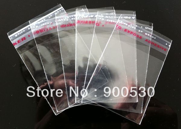Wholesale 200pcs/LOT 50x70cm Long Rectangle Plastic Bags Self Adhesive Seal Fit Packaging Jewelry/gift Packaging Display(China (Mainland))