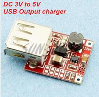 Free shipping 2 PCS/LOT DC 3V to 5V USB Output charger Power Module Mini DC-DC Boost Converter