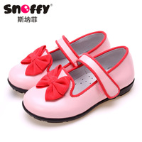 Snoffy children shoes child leather female child cowhide all-match princess single shoes 2013 spring 16-20cm