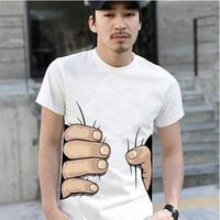 Big t-shirt personality male short-sleeve basic shirt