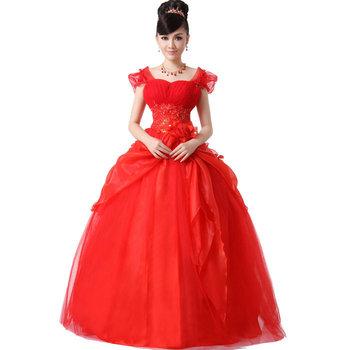 Princess dress sleeveless shoulder cape sweet plus size wedding dress mid waist map three-dimensional cut women's wedding dress