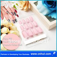 Free Shipping by Fedex 50 sets X24Pcs Fashion Beautiy Pre Designed French Acrylic False Nail Full Cover Tips Free Nail Glue - 09