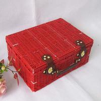 KINGART Classic red suitcase home storage box storage box underwear box