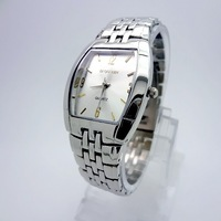 [8030G1-1] people on earth waterproof strip quartz watch, silver dial simple Korean men&#39;s watch