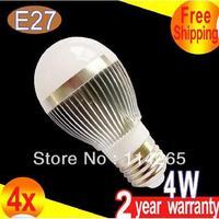 AC85-265V dimmable B22 E14 E27 base type CRI>80 4W 400LM warm / cold white LED bubble ball bulb corn light DHL/Fedex CE
