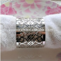 laser cut  party supply favor silver napkin ring for weddings