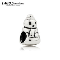 DIY bracelet ! T400 Charms&beads,925 sterling silver beads,Snowman,compatible with pretty bracelet#Q087,free shipping