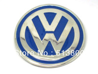 BLUE ENAMEL CHROME VW  BELT BUCKLE