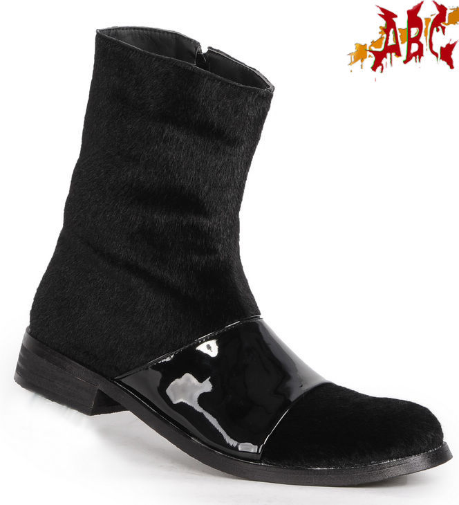 Abc vintage horse hair black boots x-a15-006 male medium-leg boots 1010(China (Mainland))
