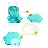 Free shipping cute animal water stain coaster,anti slip cup mat,water drop heat insulation mat