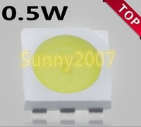 wholesale 100pcs x   0.5w  white 5050 LED lamp bead  SMD5050 SMT LED light-emitting diod  Free shipping