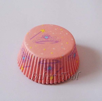 wholesale 100pcs pink imperial crown Cupcake Liners, Baking Paper Cups,Muffin Cake Molds for Girls Party