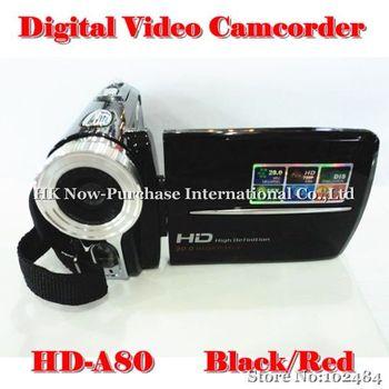 "New Arrival 3.0"" TFT Rotation HD Digital Video Camera Camcorder DV DVR Video Recoder HD-A80 Black/Red Hot 2014"