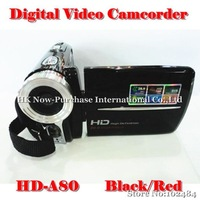 "New Arrival 3.0"" TFT Rotation HD Digital Video Camera Camcorder DV DVR Video Recoder HD-A80 Black/Red Hot 2014"