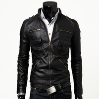 2013 motorcycle punk slim jacket spring apparel coats pilot the new arrival clothing fashion leather england classic sheep skin