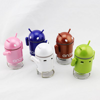 Android Robot Portable Mini Speaker Mp3 Player with TF USB port Computer Speakers Sound box Free shipping wholesale
