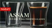 Original Bodum Assam Double Wall Tumbler/ Glass coffee cup 100ml, Set of 2,Double Wall Shot/Espresso Glass mug ,Free shipping