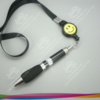 Free shipping for best seller Retractable Ballpoint Pen with Neck Strap