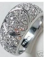 Jewellery rhinestone Men's Ring Size:6-11#