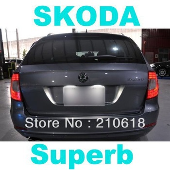 COMBO Full Kit LED lights for SKODA Superb 2008-2014 wagon combi license footwell door trunk reading vanity
