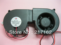 2 Pcs Per Lot Brushless DC Cooling Blower Fan 7525mm 7525S 24V 0.18-0.3A  2 Wires 75x25mm Black Brand New HOT Sale High Quality