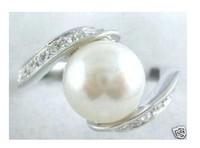 BEAUTIFUL WHITE PEARL RING 6-9#