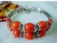 Tibet style Tibetan silver orange Turquoise fashion bracelet