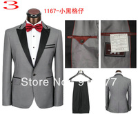 Free shipping high quality fashionable suit for men suit (coat + pants) a variety of color and design size S M L XL XXL XXXL