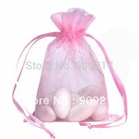200 pcs/lot Pink Organza Bags Size 9x12 cm Wedding Favors Party Gift Bag
