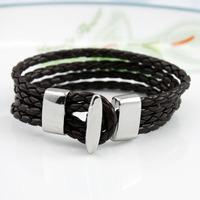 Free shipping!MIX order PU leather alloy  wristband braided bracelet wholesale Personalised Friendship Bracelet
