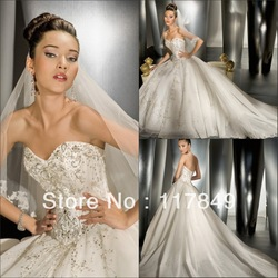 2013 new collection attractive sweetheart mermaid wedding dress with veil(China (Mainland))
