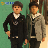 Child clothes children's clothing boys clothing wadded jacket cotton-padded jacket outerwear 2012 winter blazer 100% cotton