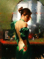 Hot pure hand-painted oil painting, high quality canvas, abstract body art painting Free Shipping