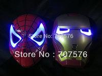 Spider Man Led lighting mask / Iron Man led lighting mask