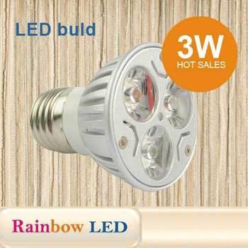E27 Warm White Cool White  led lamp 3W 85~265V Free Shipping 10pcs/lot
