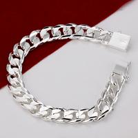 H032  2014 Chunky New 925 Silver Bracelets Jewelry de Prata pulseiras masculina designer wholesale atacado de bijuteria Mujer