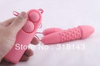 Free Shipping Multiple Speeds Dildo Double Vibrating Egg Bullet G Spot Stimulator Sex Vibrator toys for women F026