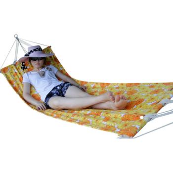 Free walk outdoor multicolour canvas wooden rod hammock lengthen broadened