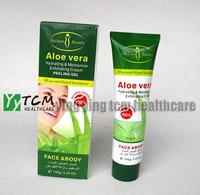 wholesale AICHUN Aloe vera Hydrating & Moisturize exfoliating cream Peeling Gel face and body 100g/pcs