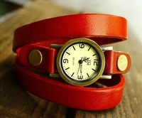 Mix Min.Order $10 Hot Sale 2013 Fashion Wristwatch Watch for Women Bracelet Leather Band Ladies Quartz Watches 0004