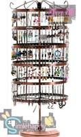 Rotatable 288 holes Metal Earrings Jewelry Display Stand Holder Show Rack Hanger