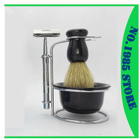 Promotions Free Shipping Shaving Razor+Shaving Brush+Shaving Mug +Stand Set
